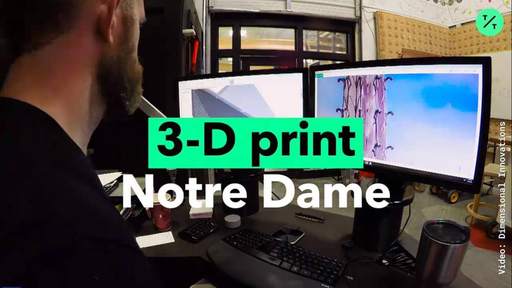 3D Print the Notre Dame Spire