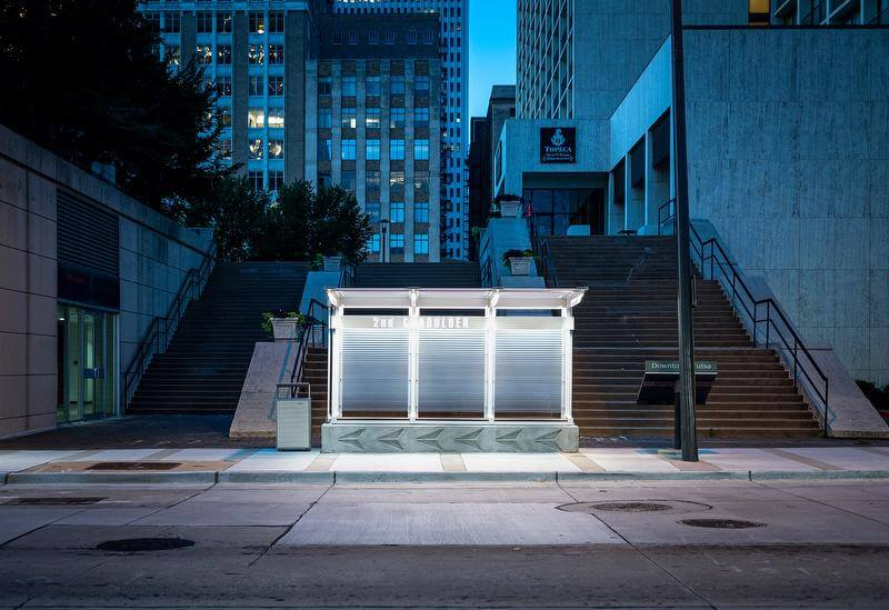 Tulsa-Bus-Stop-Night
